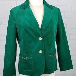 Talbot's Green Corduroy Blazer.